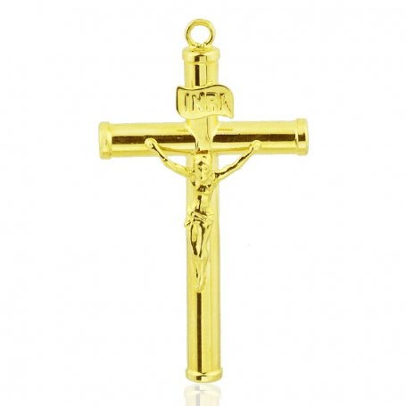 Cruz de Oro con Cristo Venus