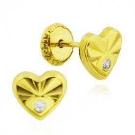 Pendiente de Oro Heart