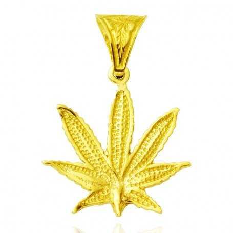 Colgante de Oro 18k Marihuana