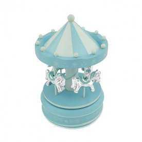 Tiovivo Musical Infantil Azul