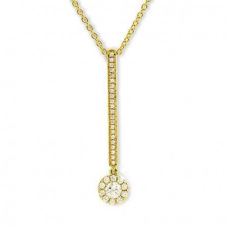 Collar Barra Diamante Oro Catalina.