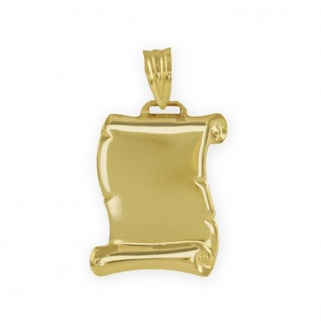 Chapa Pergamino en Oro Amarillo de 9K