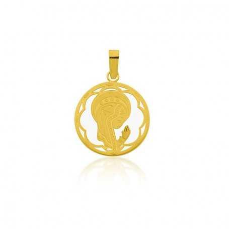 Medalla Infantil Virgen Oro Nácar Marie