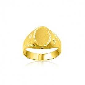 Sello Cadete Oro Ovalo Prince