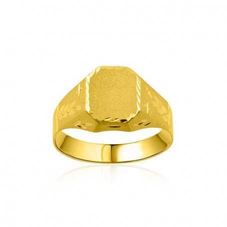 Sello Cadete Rectangular Oro Relieve