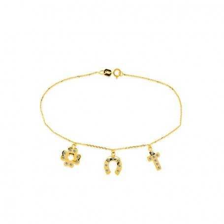 Pulsera Charms Oro Circonitas Holly