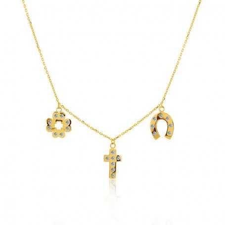 Collar Charms Oro Circonitas Holly