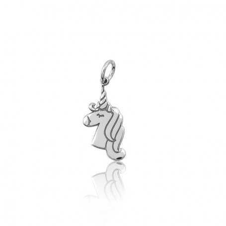 Abalorio Plata Unicornio Charm