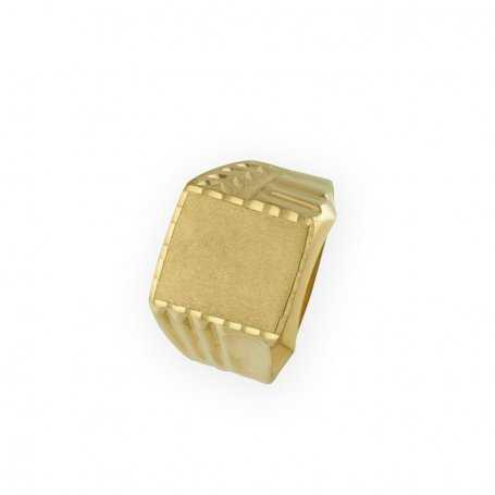 Sello Hombre Oro Dos Texturas Steps