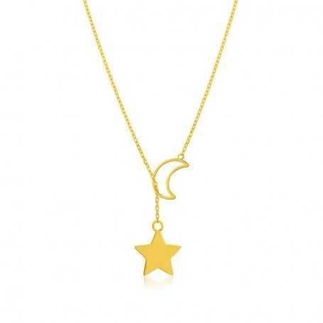 Collar Estrella Luna Oro Moon Star