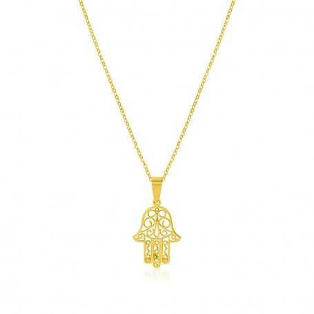 Collar Mano de Fátima Oro Galatea