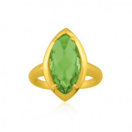 Anillo Oro Piedra Verde Ohio