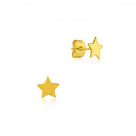 Pendiente Oro Estrella Infantil Liso Seoul