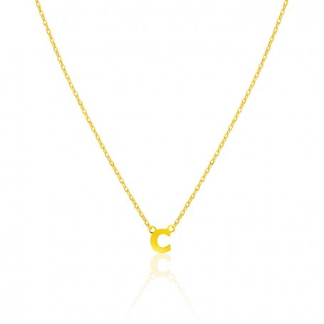 Collar Oro 9k  Inicial Charming