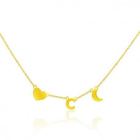 Collar Oro Abalorio Inicial Date Charming
