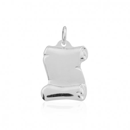 Chapa Pergamino Labrado Plata White Silver
