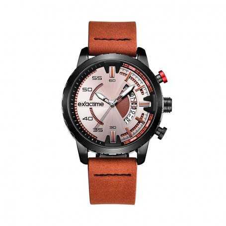 Reloj Hombre Exactime Acero Marrón Sportive