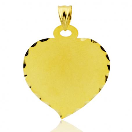 Colgante Oro 9k Corazón Labrado Matis