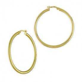 Pendiente Mujer Oro Aro Liso Hoop