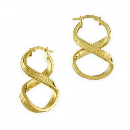 Pendiente Mujer Oro Aro Retorcido Versace Loop