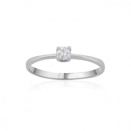 Anillo Diamantes Oro Blanco Valene