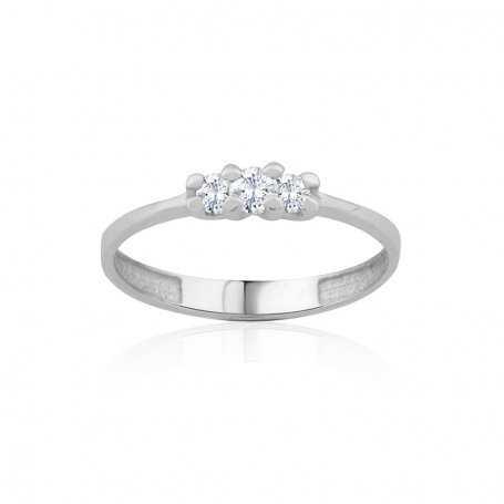 Anillo Oro Blanco Diamantes Lady
