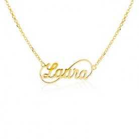 Collar Nombre Personalizado Oro Infinito