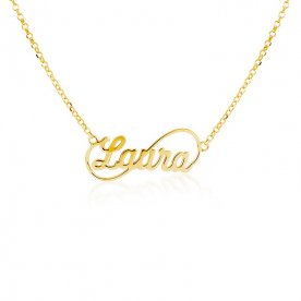 Collar Nombre Personalizado Oro Gold Infinito