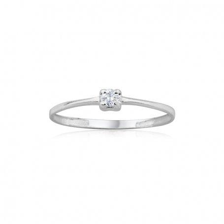 Solitario Diamantes Oro Blanco Evie