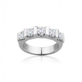 Sortija Diamantes Oro Blanco Briyan