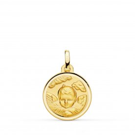 Medalla Ángel Niño Oro Bisel Redonda