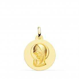 Medalla Virgen Niña Oro Lisa