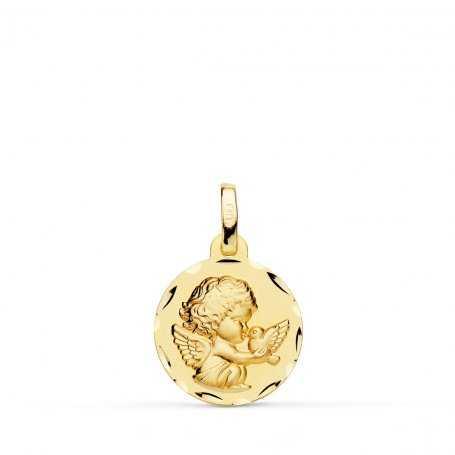 Medalla Oro 9k Ángel Niño Circular