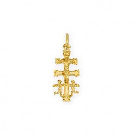Colgante Cruz Caravaca Oro