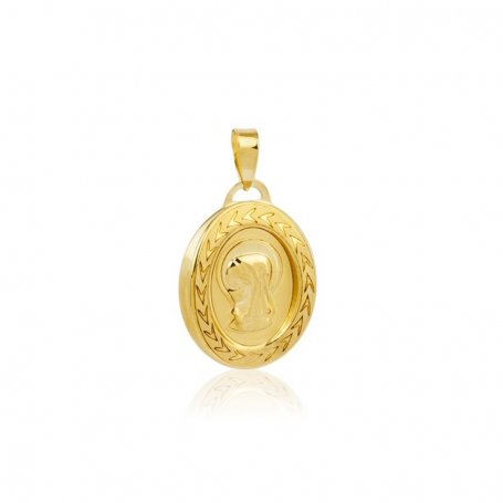 Medalla de la Virgen Niña en Oro 18K