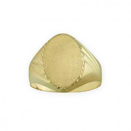 Sello Ovalado Oro 9K