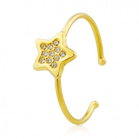 Sortija Estrella Circonitas 18K