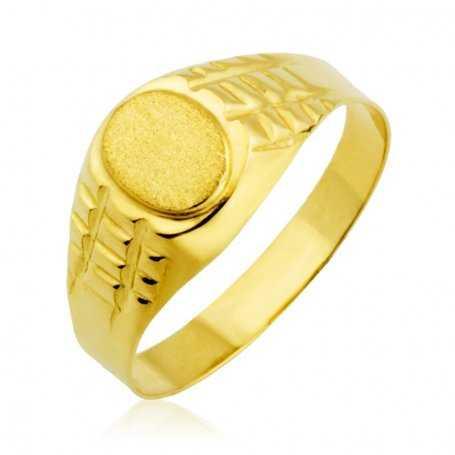 Sello Cadete Oro Ovalado Relieves