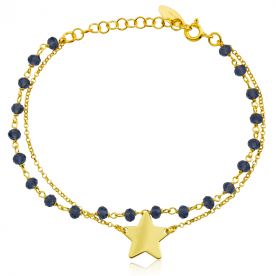 Pulsera Shapphire Star Gold