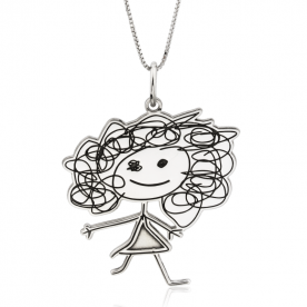 Collar Baby Draw Silhouette Personalizable