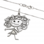 Collar Baby Draw Silhouette Personalizable Plata