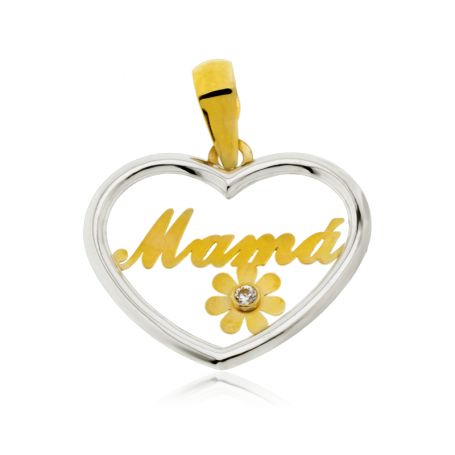 Colgante Heart Mama 18K