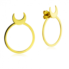Pendientes Moon Eclipse Gold