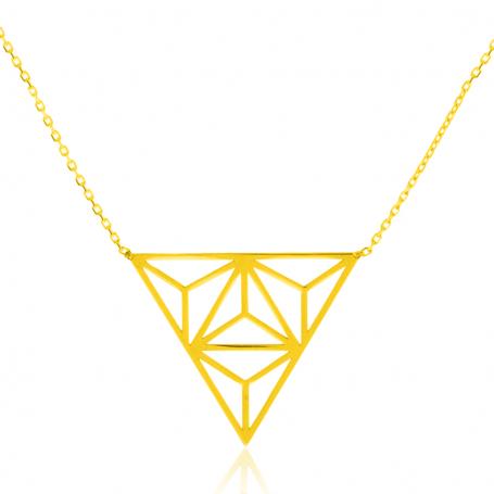 Gargantilla Geometría de Oro 18K