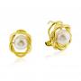 Pendientes Mujer Perla Oro Sylt