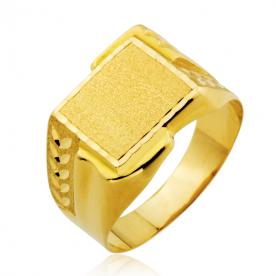 Sello Hombre Oro Rectangular Motivo Coins