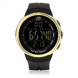 Reloj ARS Mountain Digital Gold Negro