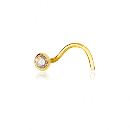Piercing Chatón Brillante Oro