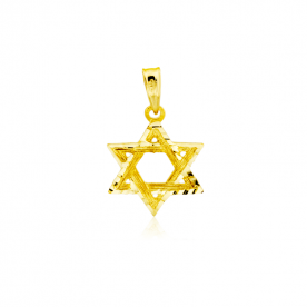Colgante Estrella de David de Oro 18k