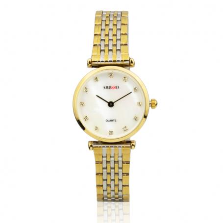 Reloj Mujer Clásico Bicolor Circonitas Aresso